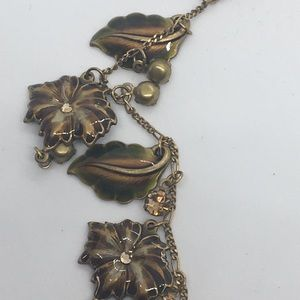 Glass Works Studio Fall Leaves Necklace